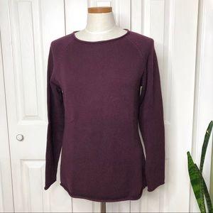 Eddie Bauer cotton sweater, rolled hem